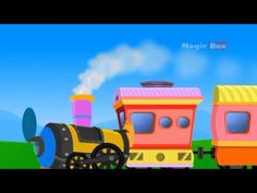 Hey kids, Did you like Train? here is a fun song about the Train Watch this sweet song composed by MagicBox Animation and sing along to this lovely song abou. Rhymes For Kids, Animated Cartoons, Animation, Train, Toys, Youtube, Rhymes For Children, Cartoons, Activity Toys
