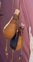 Small leather covered bottles by Laerad