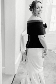 #corsettop #backofdress #lacedup #tweed #fishtailweddingdress Photos by http://www.zoecampbellphotography.com/
