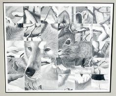 Art Lesson Plan: Weave Drawing- ask students to choose three related images Line Art Projects, Drawing Projects, Drawing Lessons, Art Lessons, High School Drawing, High School Art, Middle School Art, Jr Art, Drawing Activities