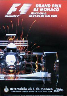 2004 Monaco Grand Prix poster
