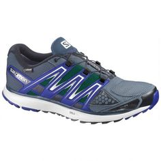 Salomon X-Scream GTX Citytrail Running Shoes - Men s-G Blue White Black- 813e22821d8