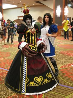 Saturday cosplay by Kristin Brenemen, via Flickr - Alice & the Red Queen from American McGee's Alice