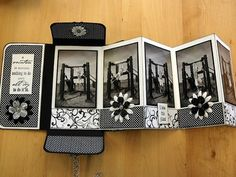 Accordion fold booklet by Karin van Dalen What if the pages were envelopes?Accordian fold booklet This would be a cool CS project - KAY! Mini Album Scrapbook, Mini Albums Scrap, Scrapbook Cards, Fancy Fold Cards, Folded Cards, Tarjetas Diy, Accordion Book, Mini Album Tutorial, Mini Photo