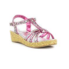 209ec4ac9f Lilley Girls T-Bar Multi Coloured Glitter Sandal £9.99 Pretty Flower Girl  Dresses,