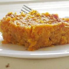 Now you can make your favorite carrot souffle at home!  This recipe combines mashed carrots with butter, sugar, flour, vanilla extract and eggs.