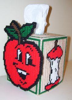 Plastic Canvas Tissue Box Patterns | Tissue Box Cover Fits Bouquet Style Tissue Box