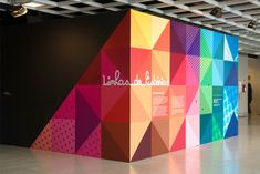 "Linhas de Histórias"" is a exhibition with a signage and printed pieces created by the Brazilian studio Campo. Wayfinding Signage, Signage Design, Booth Design, Design Design, Environmental Graphic Design, Environmental Graphics, Mural Art, Wall Murals, Hoarding Design"