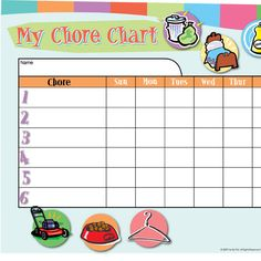 Customizable Chore Chart - iMom (Right click the chores box and add your own chores. Brush Teeth - Morning Make Bed Feed Pets Pick-up Dirty Clothes & Shoes Put Away Toys Brush Teeth - Night. Aniston Greer Get Ready! Praying For Your Family, Love Your Family, Practical Parenting, Parenting Hacks, Parenting Styles, Parenting Classes, Chores For Kids, Activities For Kids, Learning Activities