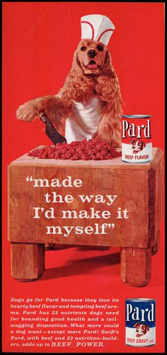 1963 Vintage Ad PARD Dog Food with Cocker by DoubleLMomEphemera