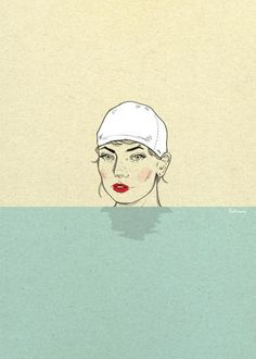 Swimmer Art Print by magdalenapankiewicz Beyond The Sea, Artwork For Home, Nautical Fashion, Ocean, Art Prints, Gallery, Creative, Summer, Poster