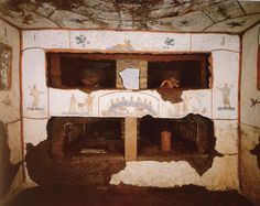 Cubiculum de los Sacramentos en la Catacumba de San Calixto