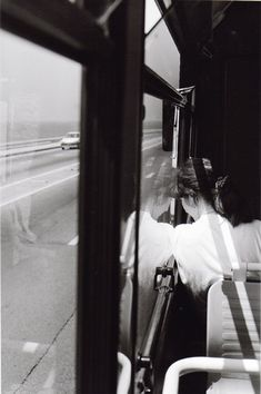 Bernard Plossu :: from the series 'Marseilles vu du bus', / more [+] by this photographer