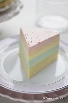 ☆ pale rainbow cheesecake!
