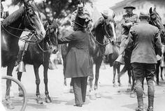 Theodore Roosevelt greets the Arizona Rough Riders in 1898. Photo credit Sharlot Hall Museum Archive