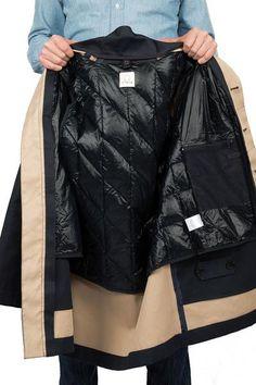 Rainproof MAC navy - with liner jacket inside
