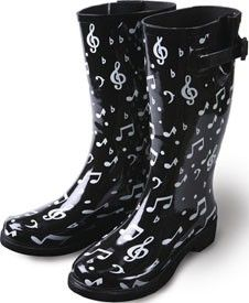 Music Note Rain Boots