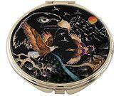 Mother of Pearl Makeup Mirror eagle Design Cosmetic mirror Handbag Purse handheld Compact hand pocket Mirror