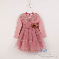 Kids-Toddler-Girls-Lace-Doll-Collar-Party-Princess-Tutu-Skirt-Dresses-Ages3-8Y