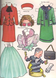 Ronald Reagan and the First Family Paper Doll - 1981