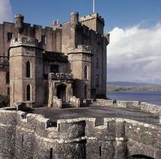 Dunvegan Castle on Isle of Skye, Scotland - oldest continuously inhabited castle in Scotland and home of Clan MacLeod.
