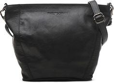 PHIL+SOPHIE, Cross-Bag aus weichem Rindleder, Handtasche, Leder, Crossbody, Umhängetasche, Schwarz, 28,5x21,5x8,5 cm (BxHxT)