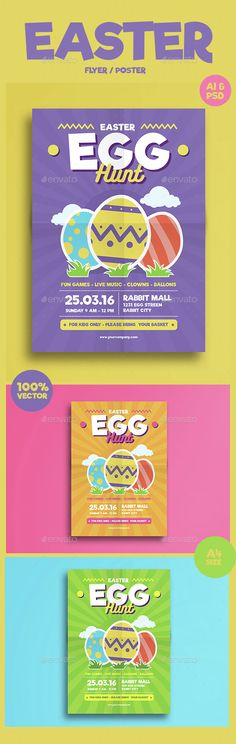 Egg Hunt Easter Celebration Flyer Template | Easter Celebration