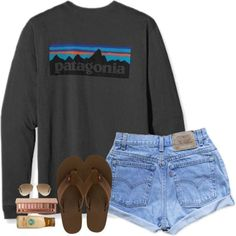 ootd going to a cabin :)) by lilypackard on Polyvore featuring Levi's, Rainbow, Ray-Ban, Patagonia, Urban Decay, women's clothing, women's fashion, women, female and woman