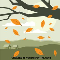 Autumn landscape vector clip art - Free vector image in AI and EPS format. Autumn Landscape, Abstract Backgrounds, Illustration, Vector Illustration, Vector Free, Art, Clip Art, Abstract, Minimalist Art