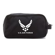 US Air Force Canvas Shower Kit Travel Toiletry Bag Case in Black  White >>> Be sure to check out this awesome product.