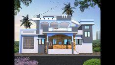Front Elevation Designs, House Elevation, Village House Design, Village Houses, Modern Small House Design, Modern Design, Bungalow, Modern Luxury, 3d Design