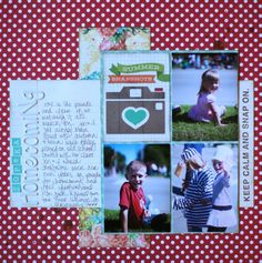 paper: pretty paper. true stories. {and scrapbooking classes with cupcakes.}: Sketch to Scrapbook Page :: A gathering in 3x4