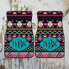 Car Mats Monogrammed Gifts Aztec Tribal by ChicMonogram on Etsy