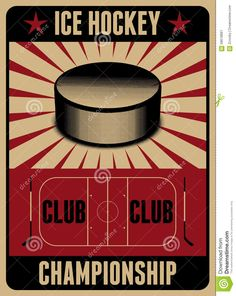 Illustration about Ice Hockey typographical vintage style poster. Illustration of design, championship, hockey - 58618897 Hockey Posters, Hockey Logos, Retro Vector, Vintage Luggage, Vintage Fashion, Vintage Style, Drawing For Kids, Ice Hockey, Illustration