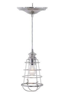 Home Decorators Collection Cage 1 Light Brushed Nickel Pendant With Hardwire Available At The
