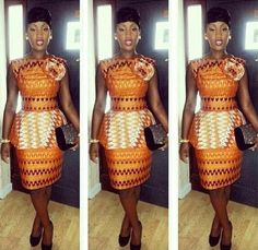 Get super trendy with these jaw-dropping Ankara styles! How cool is it to find a selection of cleverly designed Ankara styles that look fantastic, but which are not going to… African Print Dresses, African Dresses For Women, African Wear, African Attire, African Women, African Prints, African Style, African Outfits, African Fabric