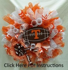 UT Deco Mesh Wreath--Click the link for instructions! A Ben Franklin Online Original #DecoMeshWreath#UT