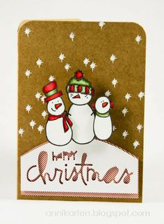 Annikarten: Das doppelte Lottchen # 80 The Alley Way Stamps: Chill Out Paper Smooches: Christmas Words