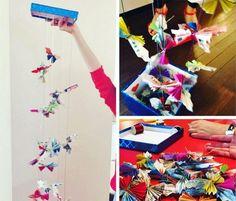 Geldgeschenke basteln: Mobilee aus Schmetterlingen