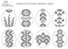 Motivy na velikonoční kraslice Easter Egg Crafts, Easter Projects, Polish Easter, Easter Egg Pattern, Carved Eggs, Easter Egg Designs, Lace Painting, Ukrainian Easter Eggs, Egg Art