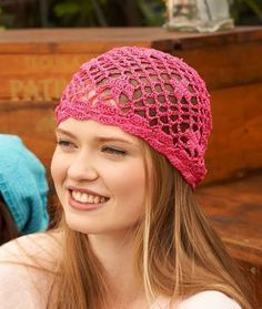 Dreaming of summer with this beanie... http://www.redheart.com/free-patterns/biba-style-beanie