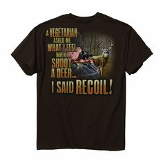 Amazon.com : Buck Wear Recoil Short Sleeve Tee : Athletic T Shirts : Sports & Outdoors
