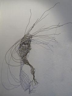 Sylph alambre recocido, 112 x 84 x 30 cm. Sculpture by Tabitha Sheehn Davis