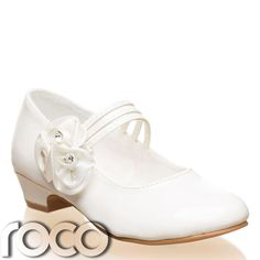 Girls Ivory Shoes, Communion Shoes, Prom Shoes, Flower Girl Shoes, Kids Shoes #FormalShoes #WeddingFlowerGirlCommunionFormal