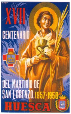 Cartel Fiestas de San Lorenzo 1957-58