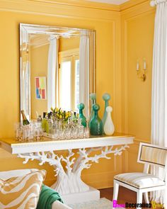 sunshine yellow, love the coral base