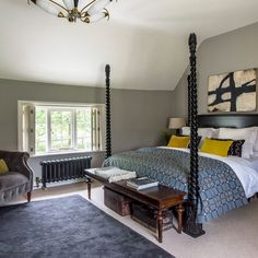 Planning a new look for your bedroom? We have bedroom ideas galore to inspire you, whether you want a country bedroom, modern bedroom or traditional bedroom scheme. Scandi Bedroom, Modern Bedroom, Bedroom Decor, Master Bedroom, Bedroom Ideas, Shelves In Bedroom, Bedroom Pictures, Traditional Bedroom, Traditional Homes
