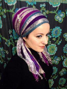 Pretty in Purple Tichel by @Wrapunzel
