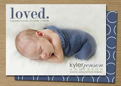 Baby Boy Birth Announcement PRINTABLE by CardsEtcetera, $15.00