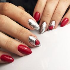 Red nails designs are acutely popular, but why? Truly, ask any adult about the ideal nail bark for her manicure. Nail Designs Pictures, Red Nail Designs, Winter Nail Designs, Halloween Nail Designs, Christmas Nail Designs, Red Nail Art, Red Nails, Holiday Nails, Christmas Nails